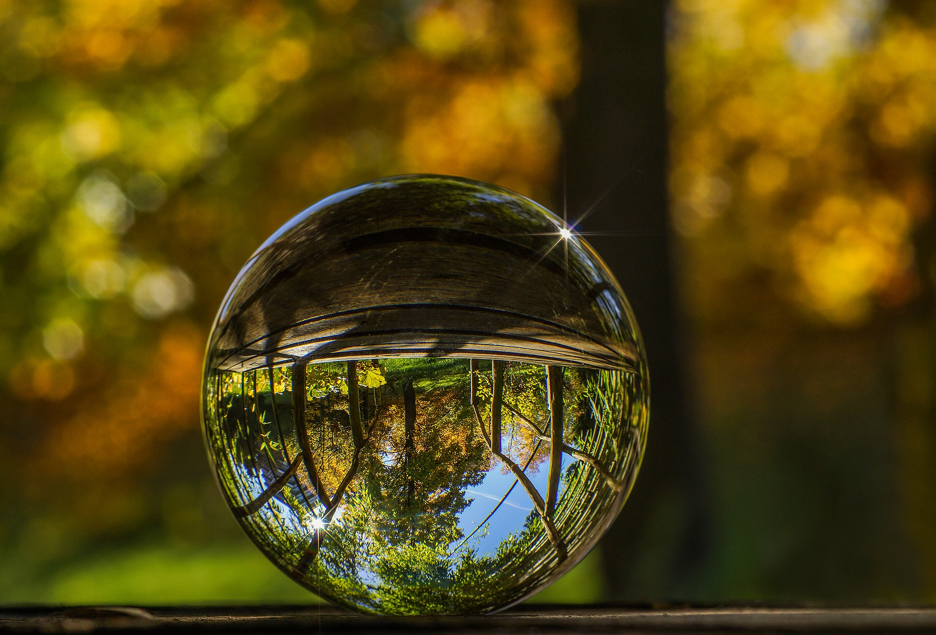 Glass Ball Reflection