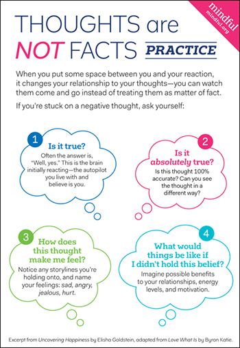 thoughts are not facts infographic